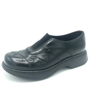 Dansko Black Leather Clogs Size 41